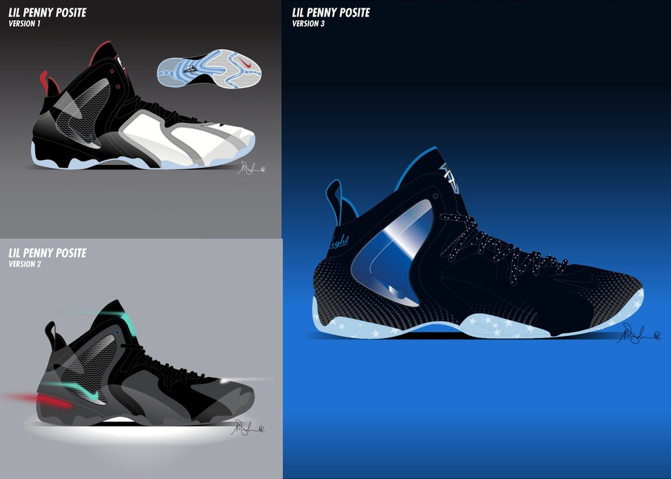 On Sale Nike Lil Penny Posite Shooting Stars Pack