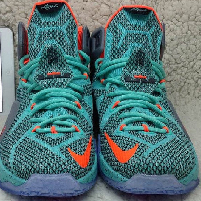 official photos 81f49 63ff6 ... miami dolphins turquoise grey crimson 5eb5b 5922c  wholesale nike  lebron 12 dolphins preview 3f8af ac87b