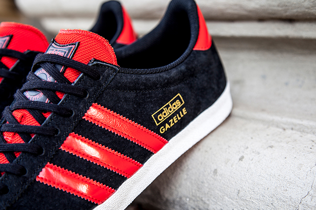 adidas gazelles mens black and red