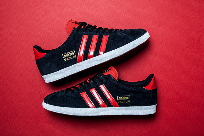 adidas gazelle og red mens