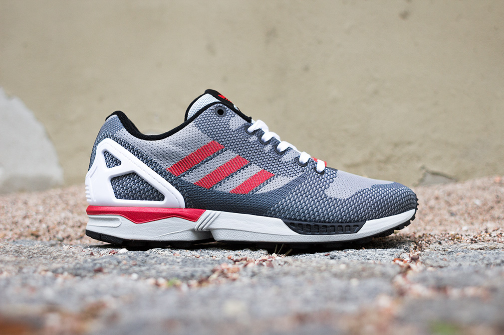 sports shoes ab3e2 00f4d official store adidas zx flux woven red blue white 50f15 aaa48