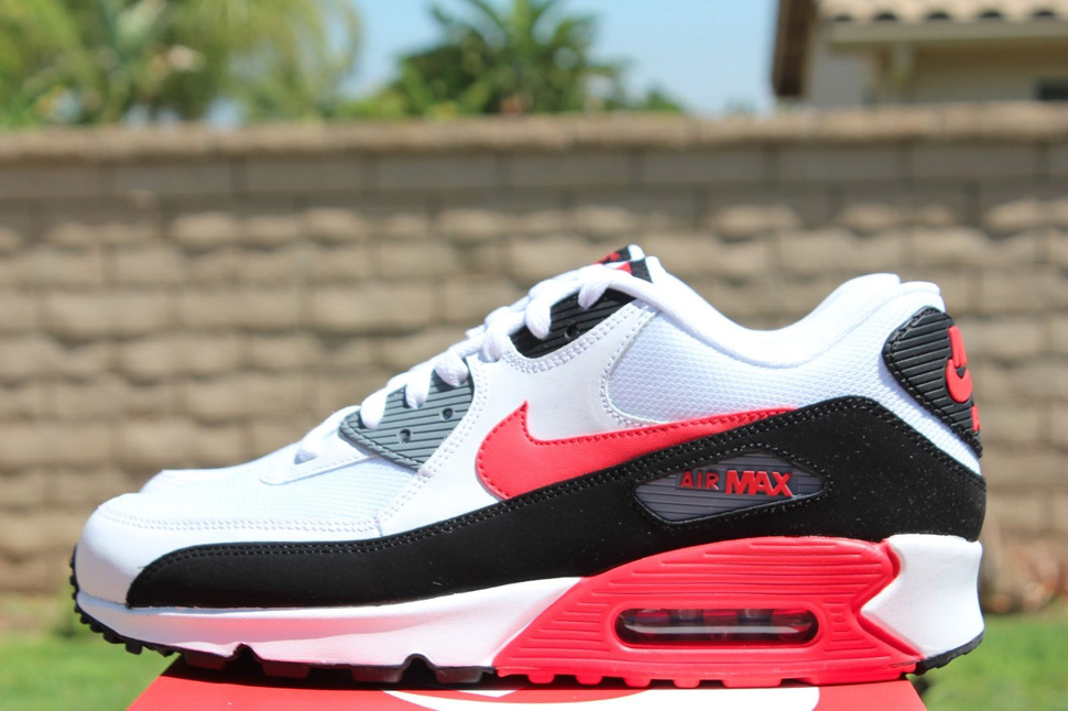 new style bc338 9f400 new zealand air max 90 white black cool grey challenge red 48165 6e612