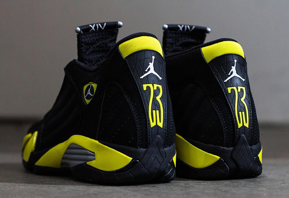 new style 02b25 1f63a ireland air jordan retro 14 black and yellow 7d931 98666