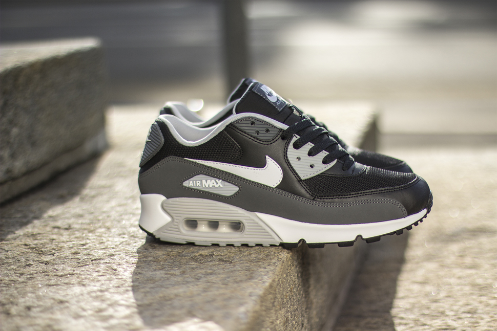 nike air max 90 essential leather Blanc Noir cool Gris