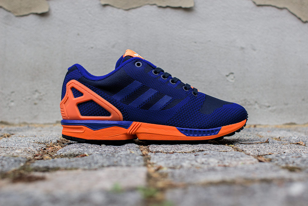 adidas originals zx flux blue and orange