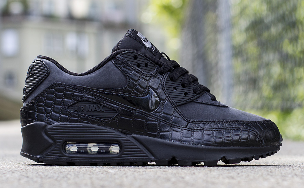 new concept d6364 8d7ff australia low price nike wmns air max 90 black croc 33411 ea050 539c5 36958
