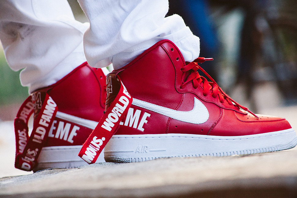 nike air force 1 high strap in the back