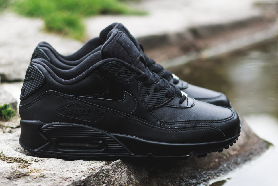 new product 42bab e294a ... where can i buy nike air max 90 leather triple black 038ac 790f0