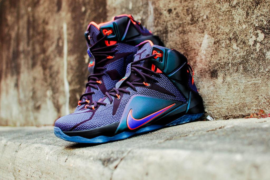 "739bc4218d4c8 ... Image 27 Nike LeBron 12 Instinct Cave Purple Hyper Crimson Nike LeBron  12 ""Instinctâ ..."