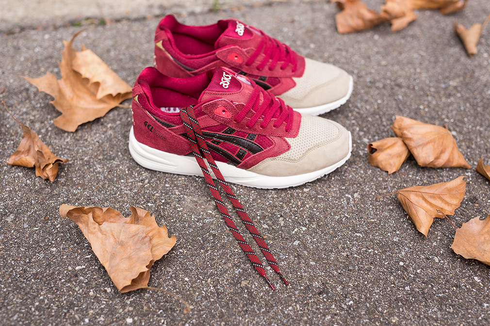 asics red beige