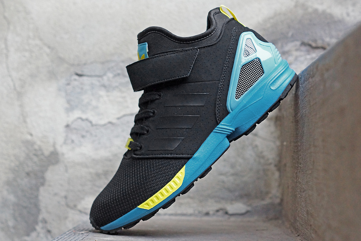 newest 5948f 1cfcb ... best price adidas zx flux nps mid black blue yellow c01da d710e