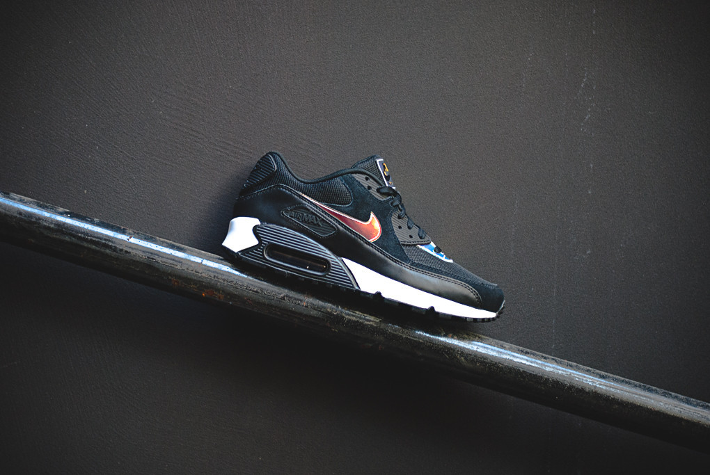 more photos 74f95 fcd1f ... discount code for nike air max 90 premium black ivory iridescent 671f4  07b42