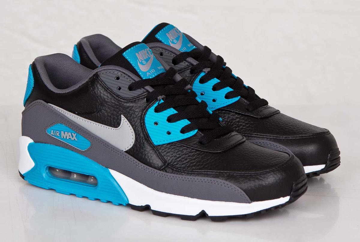 air max 90 blue and black