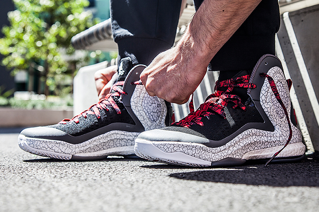 adidas d rose 5 boost on feet