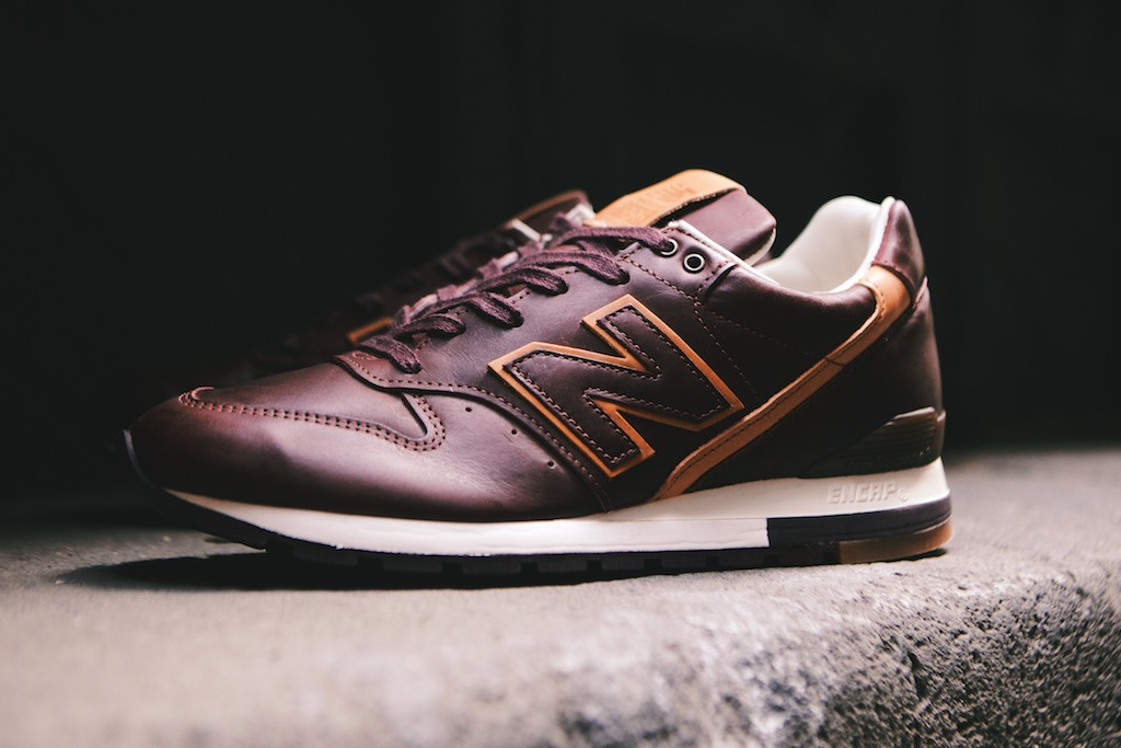 "newest d7bf1 f7ee2 New Balance 996 x Horween ""Burgundy & Tan"