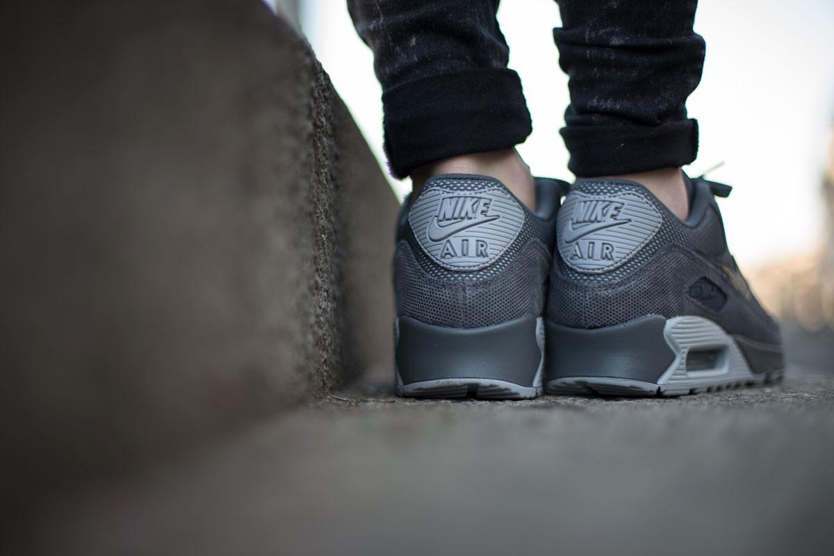 "5d6f0798d8 Nike Air Max 90 Premium. EU Kicks Nike Nike Air Max 90 Premium ""Dark Grey &  Wolf ..."