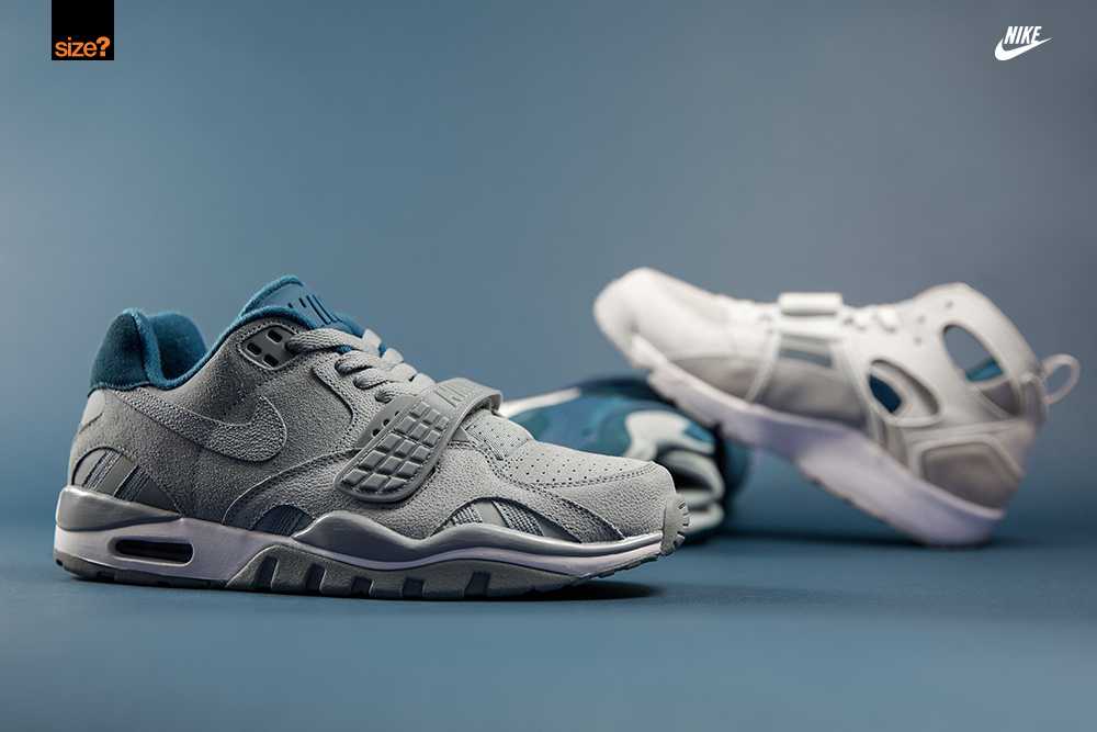 """purchase cheap a56db ad029 Nike Air Trainer """"Grey   Petrol Blue"""" Pack (size  Exclusive Pack) · Nike  Air Trainer SC II Low ..."""