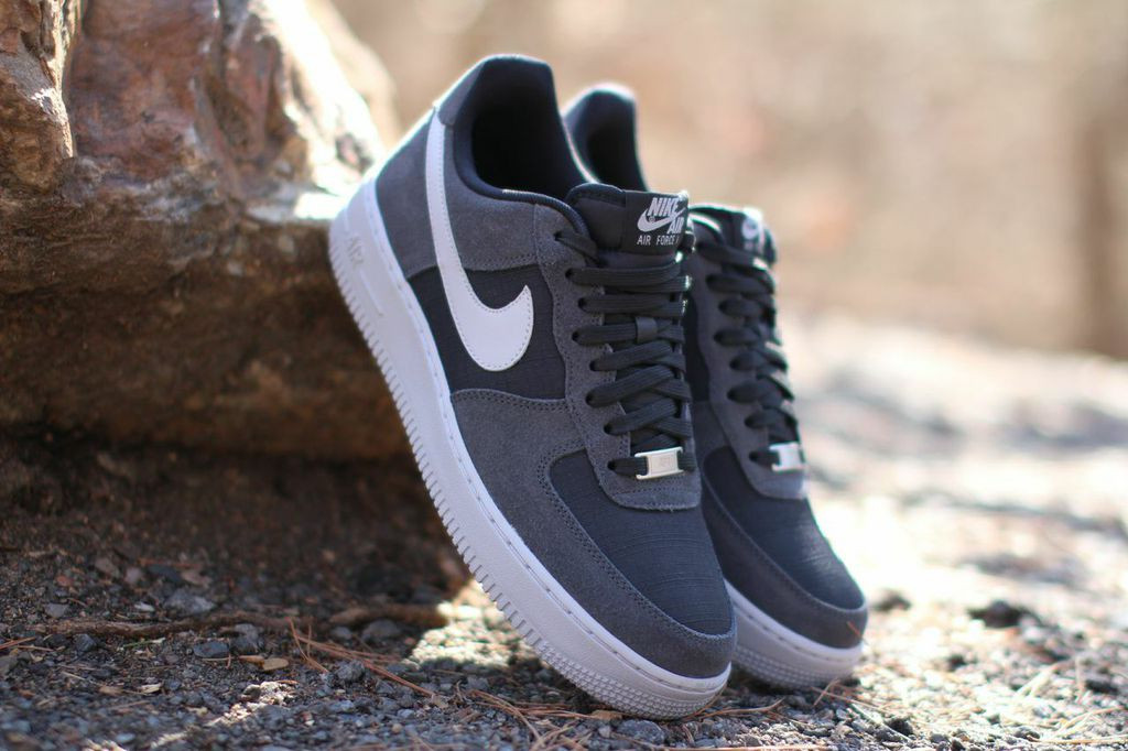 grey and black air force ones