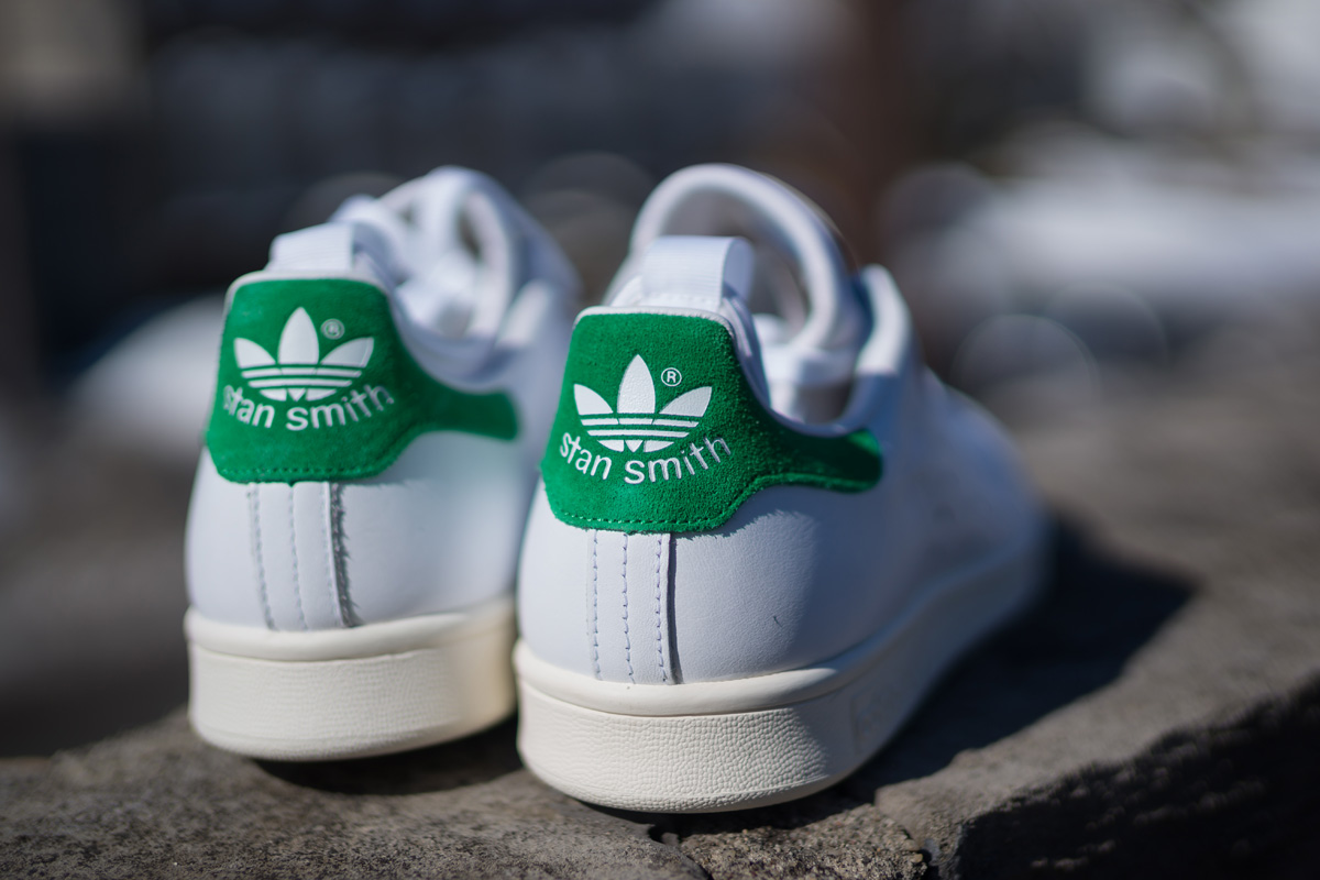 adidas stan smith white green suede