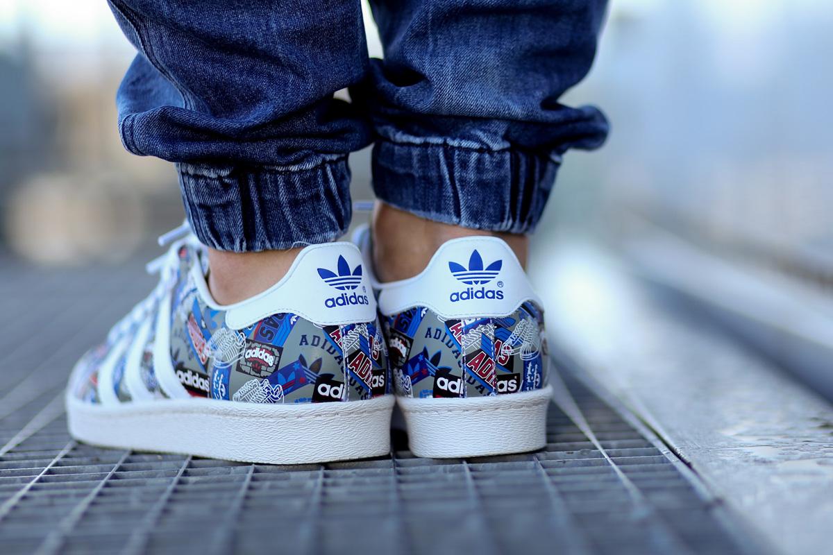 adidas original superstar on feet