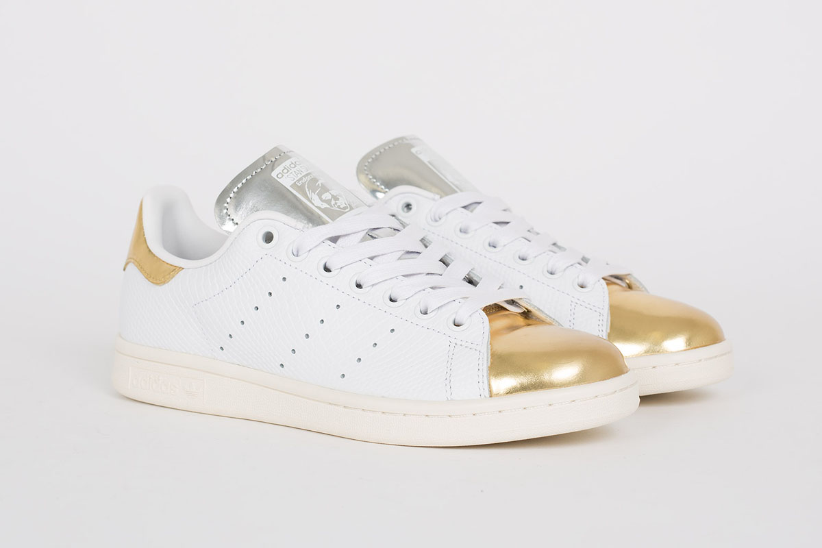 stan smith white gold