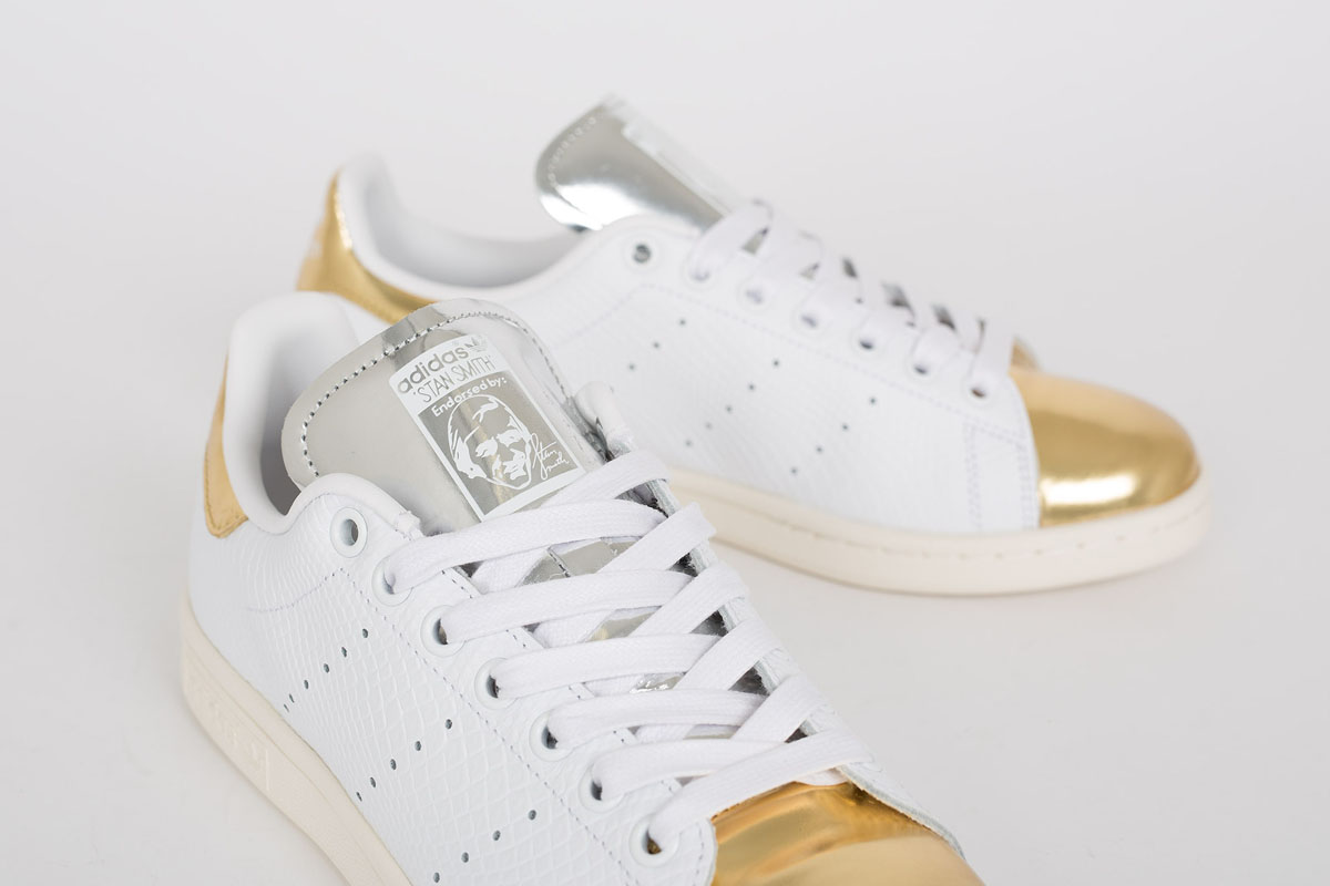 new arrival 3b289 14e25 shop gold silver womens adidas stan smith shoes 3266a 93440