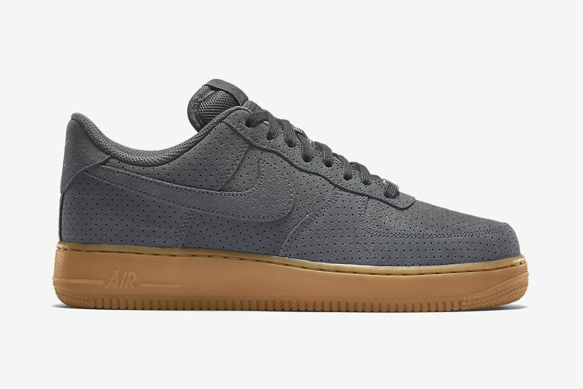 nike air force 1 suede grey gum 750