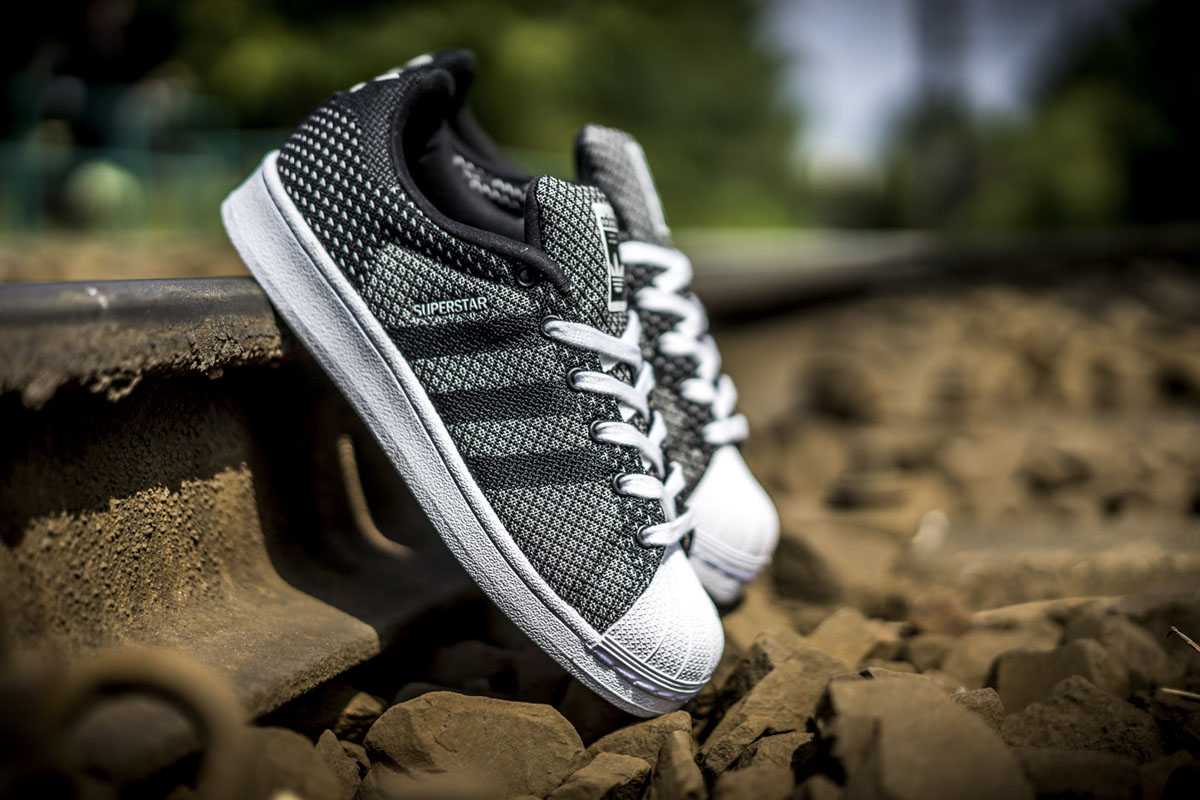 adidas original superstar weave grey