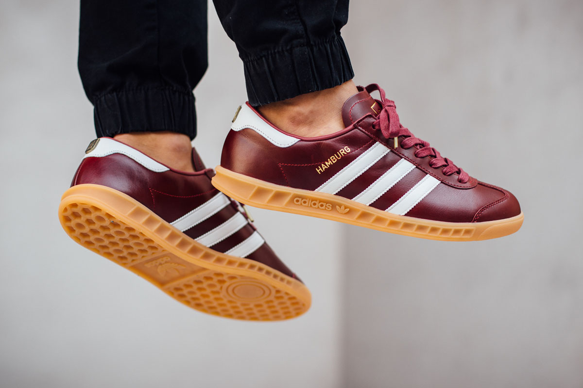"""finest selection f8905 5140a adidas Originals Hamburg """"Collegiate Burgundy†(Made in Germany)"""