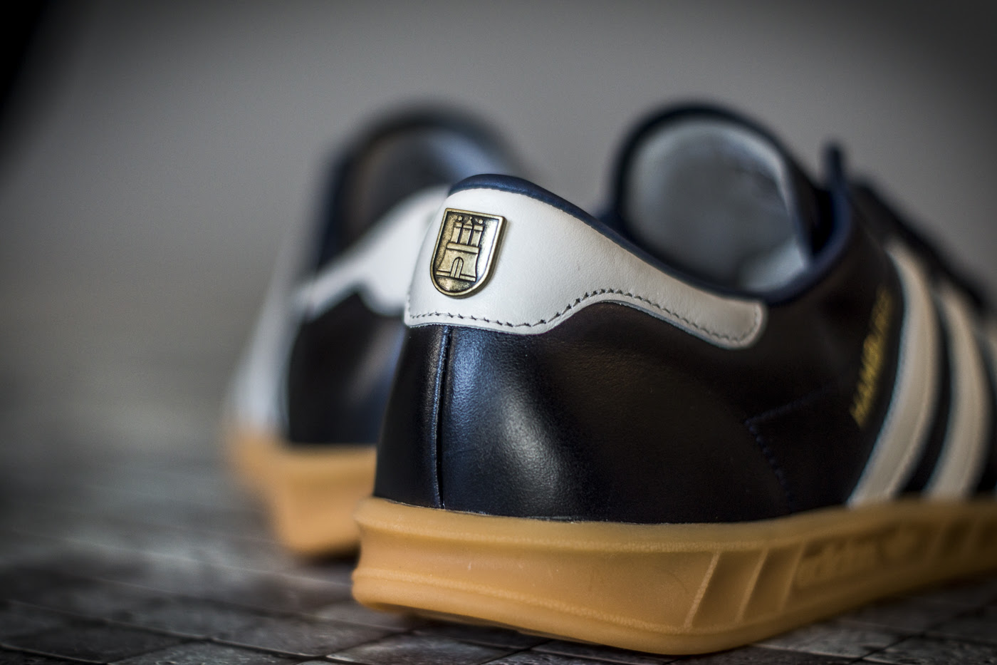 adidas hamburgs black leather