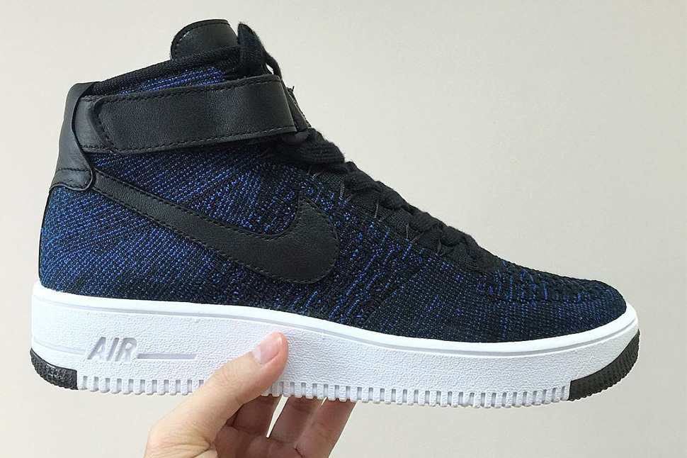 Nike Air Force 1 Flyknit blu