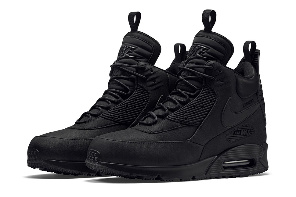 separation shoes d994b 26d11 ... wholesale nike air max 90 winterized sneakerboot triple black 9ed8d  2eecb low cost mens ...