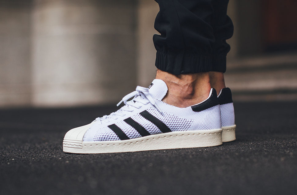 adidas superstar 80s primeknit black white