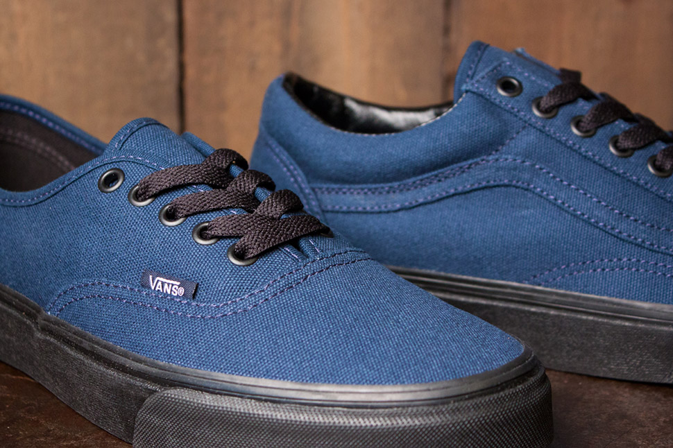 vans old skool dress blue leather