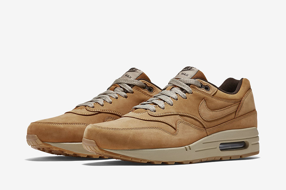 air max 1 leather brown