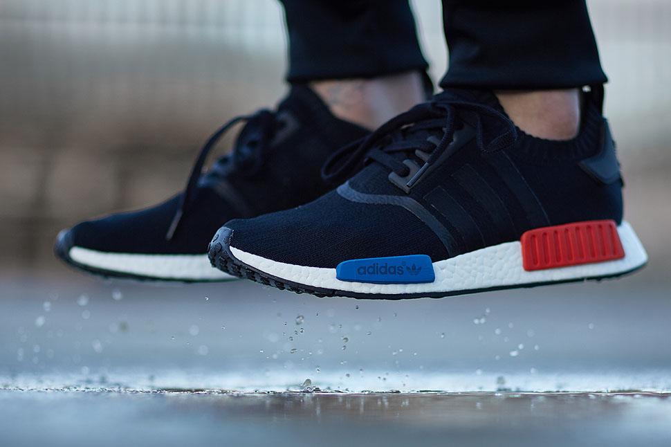 adidas nmd black red blue