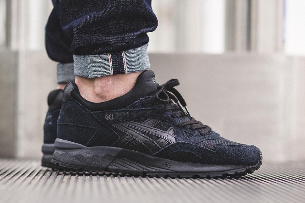 huge selection of 47536 6bb9f asics gel lyte v black black