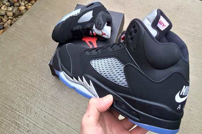 "super popular 36866 671ee Nike Air Jordan 5 Retro OG ""Black Metallic"" (Preview Pics   Release Info)"