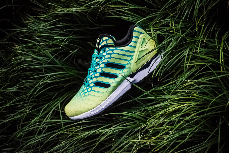 australia adidas zx flux xenopeltis snake reflective release