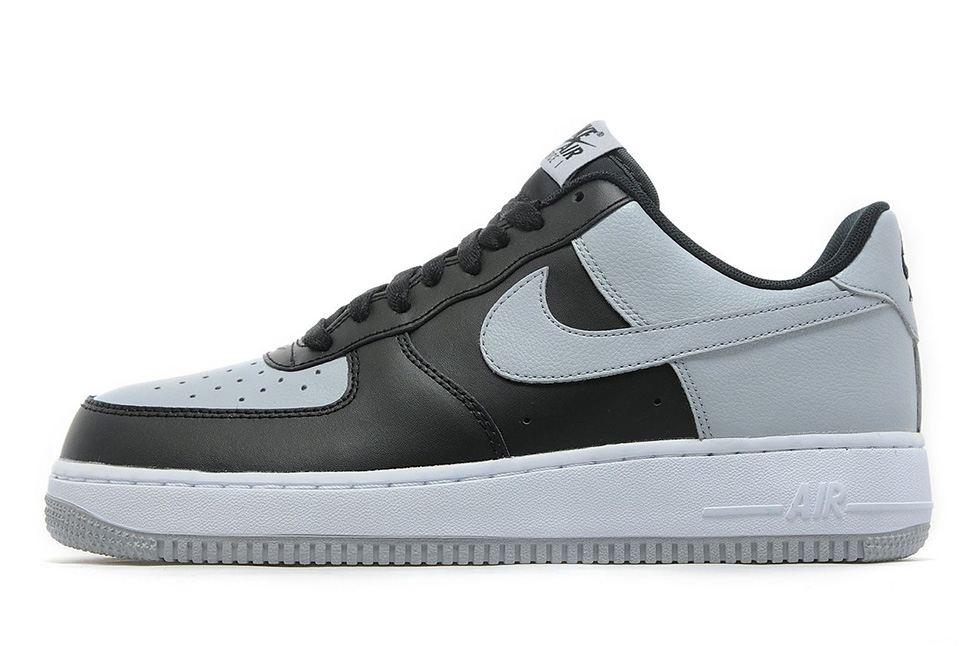 nike air force 1 black and gray
