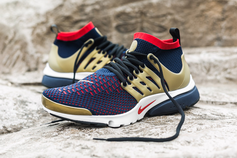 nike air presto flyknit olympic colors red