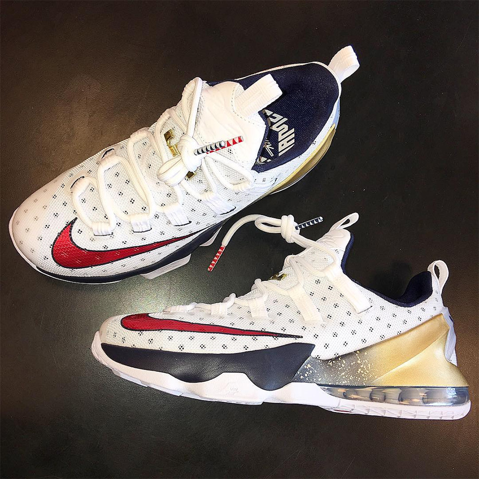 6f1f171e5f9a ... feet youtube a3496 d7006  coupon code first look nike lebron 13 low  olympics 3c500 b38c7