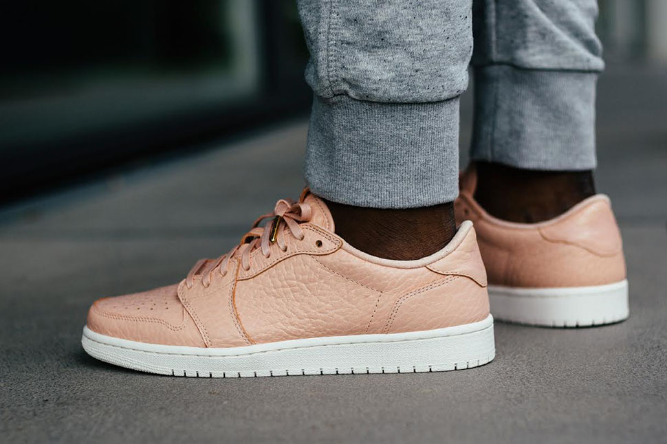 bd7a4ec5fc50 ... 50% off pink peach on foot air jordan 1 retro low ns releasing in europe