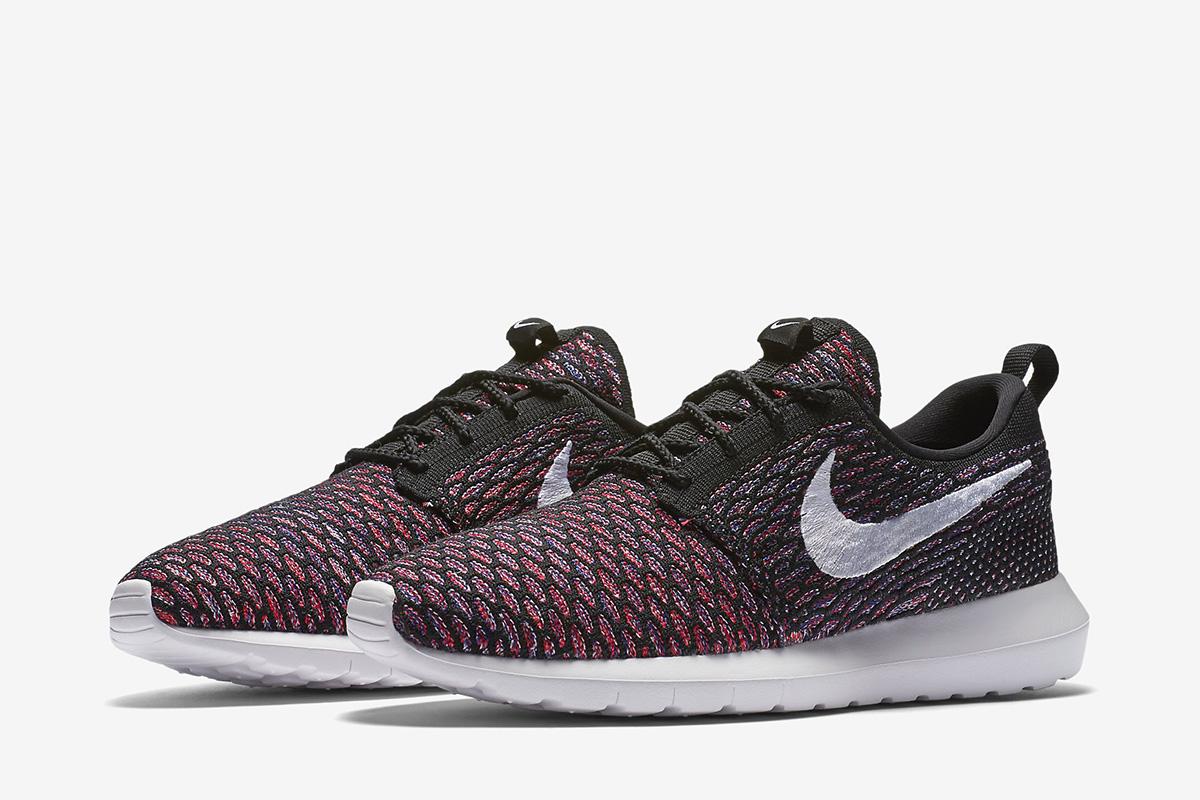 Nike Roshe Flyknit Noir Rouge
