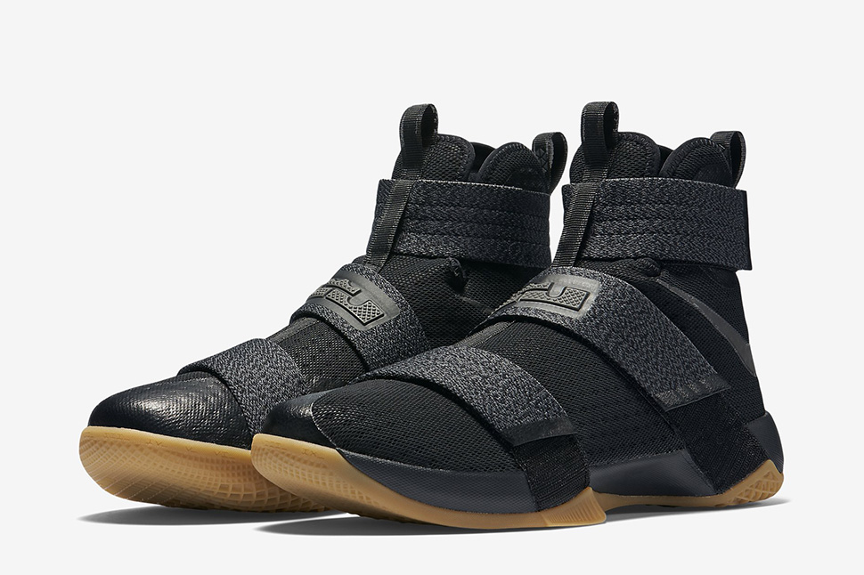 on sale 8ea0b 46819 ... italy nike zoom lebron soldier 10 sfg black metallic dark grey gum  a0c47 84e18