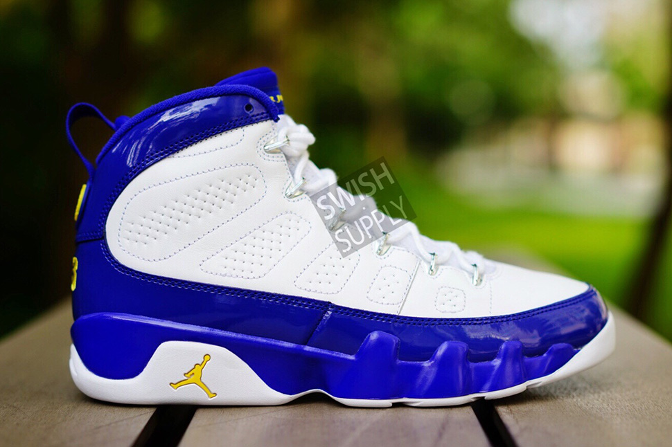 38e976ad4e4a Kobe Bryant s Air Jordan 9 Retro Lakers PE (Detailed Preview Pics) - OG  EUKicks Sneaker Magazine