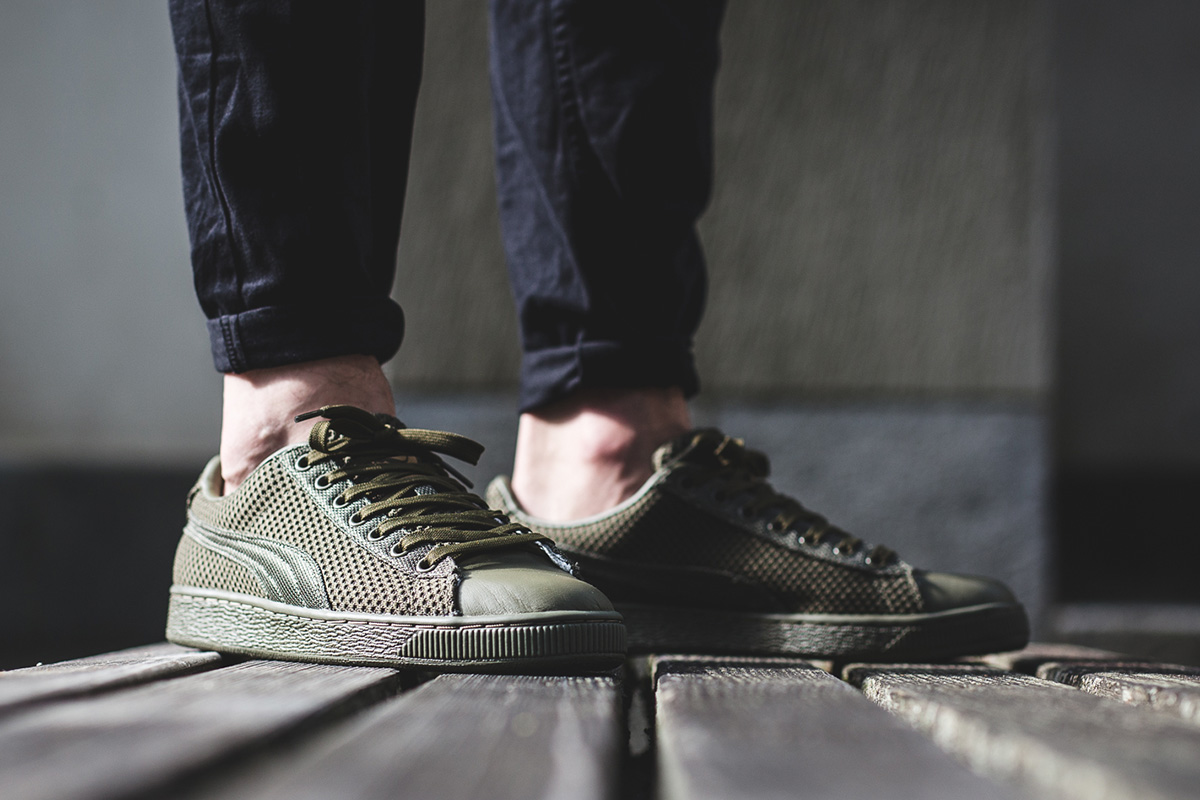 puma basket tech sneakers