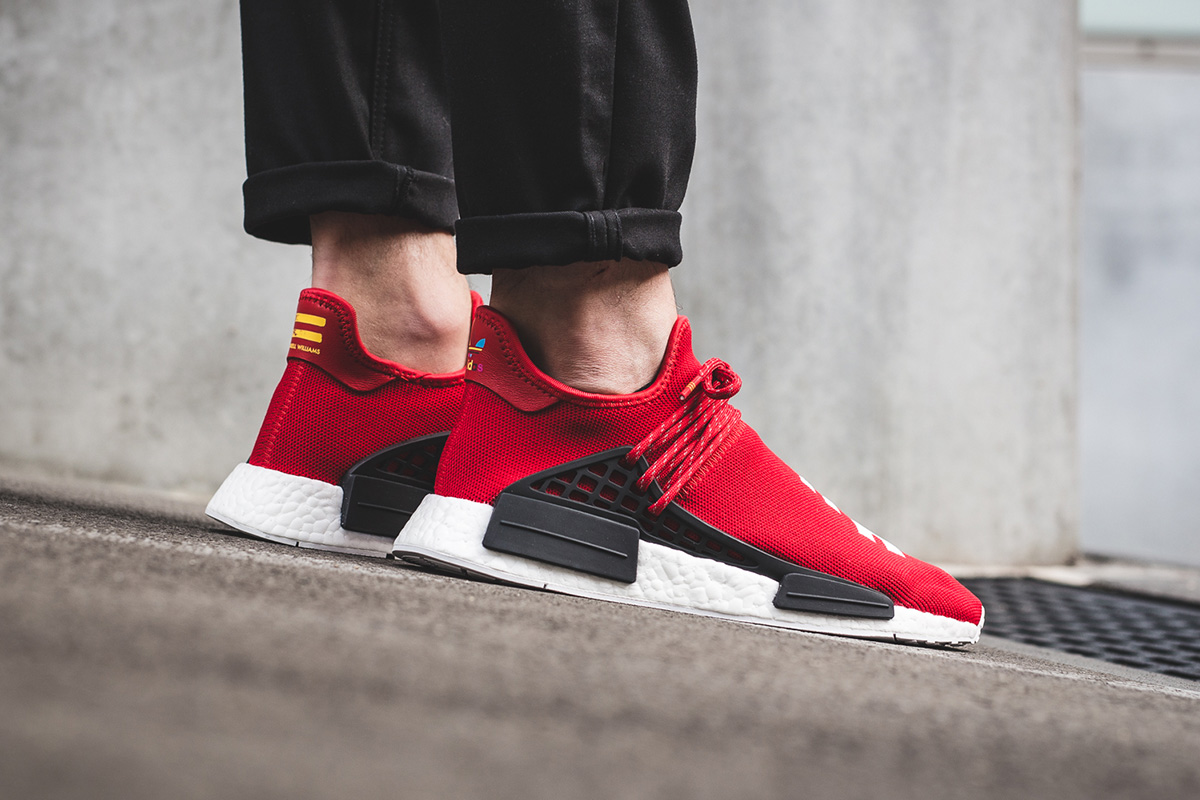 629cae867bf37 ... Human Race Scarlet Red Black Whtie BB0616 7.5  On-Foot adidas HU NMD x Pharrell  Williams (September Releases) ...
