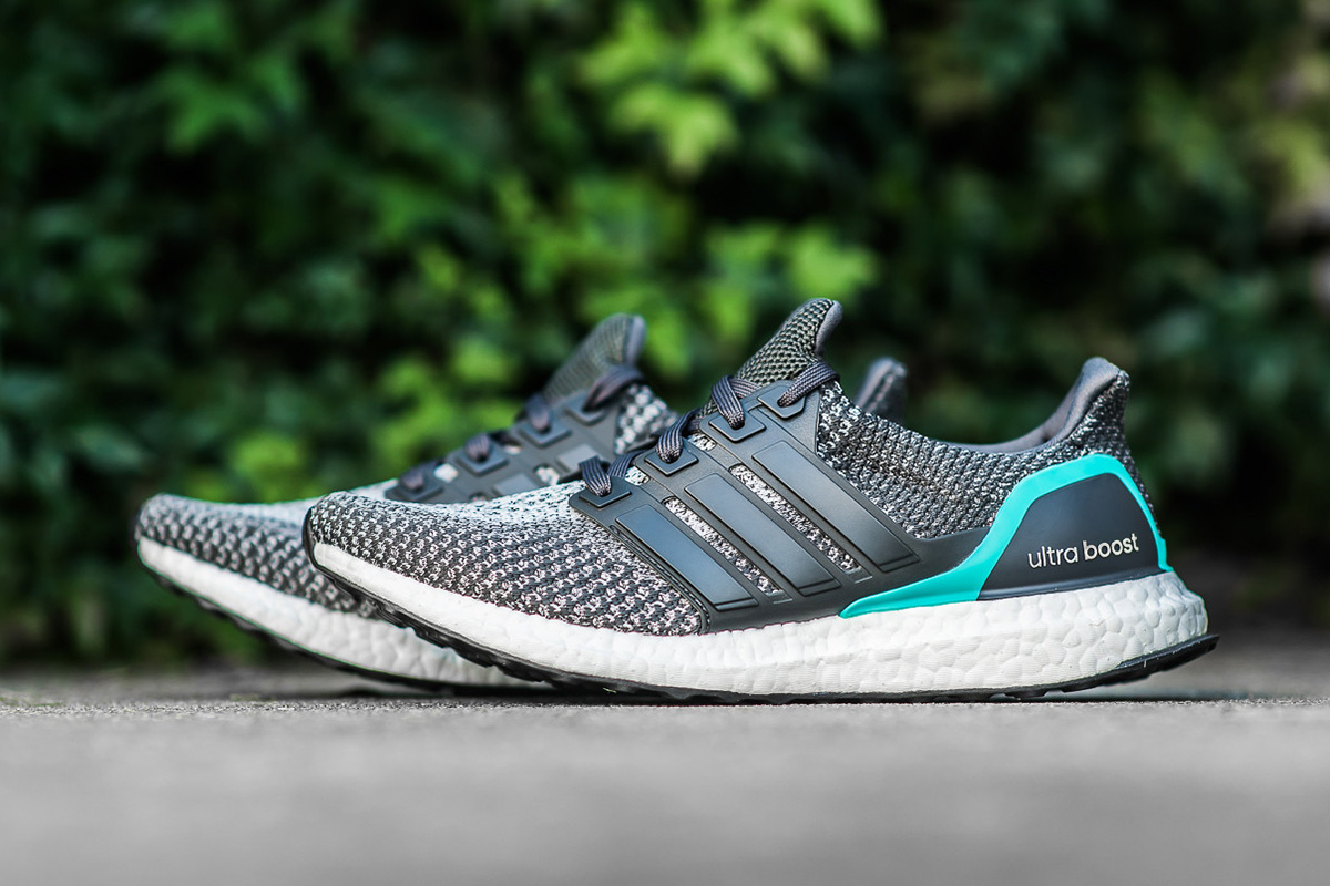 ultra boost grey and green