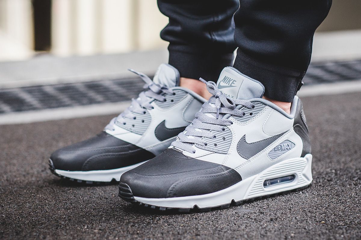 huge sale a36ce aed69 ... discount code for on foot nike air max 90 premium se wolf grey  anthracite 8b103 6a83e